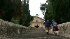 Spain - Majorca - Pollensa - Calvari Steps Stock Footage