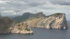 Spain - Majorca - Formentor Peninsula/ Cap de Formentor Stock Footage