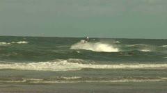 Jetski on Beach, North Sea - The Netherlands Stock Footage