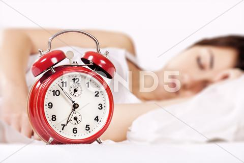 Stock photo of sleeping girl