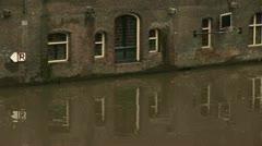 Oudegracht, Winter, Utrecht  Stock Footage