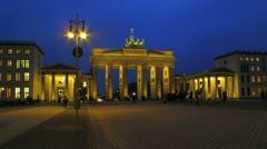 Ultra HD 4K Germany Berlin Potsdamer platz at dusk Stock Footage
