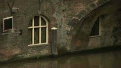 Oudegracht, Utrecht  Stock Footage