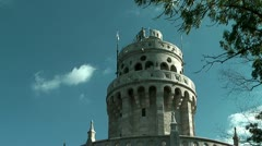 Belvedere Tower or Elisabeth Tower in the Buda Hills Stock Footage