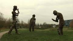 Griftpark, Statues Utrecht  Stock Footage