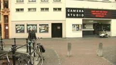Oudegracht, Pan, Utrecht Stock Footage