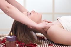Woman getting massage  Stock Photos