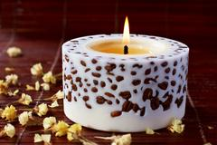 Aromatherapy candle  Stock Photos