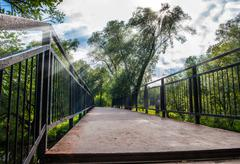 bridge in the park - stock photo