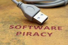 web piracy concept - stock photo