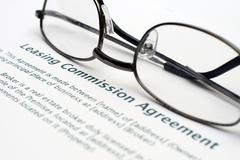 Leasing commision agreement Stock Photos