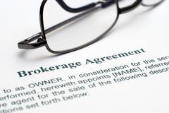 broker agreement - stock photo