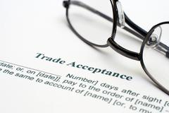 trade acceptance form - stock photo