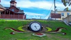 Clock near source Stock Footage