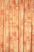 Orange textile flax fabric wickerwork Stock Photos