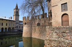 Water in the moat Stock Photos