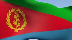 Stock Video Footage of Flag of Eritrea HD