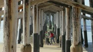 Newport Beach Pier, California Stock Footage