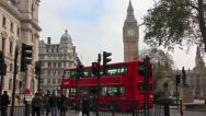 Stock Video Footage of Road traffic near Big Ben in London, England