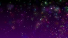 Colorful stars background in loop mode Stock Footage