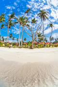Stock Photo of exotic tropical beach.