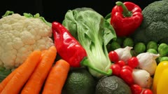 Vegetable ingredients Stock Footage