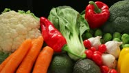 Stock Video Footage of Vegetable ingredients