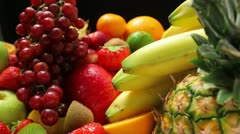 Delicious fruits Stock Footage