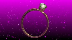 Wedding Ring background in loop mode  Rotating - stock footage