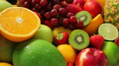 Fruit selection - stock footage