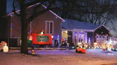 Chistmas House Display Stock Footage
