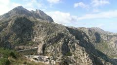 Spain - Mallorca - Way to Torrent de Pareis/ sa calobra Stock Footage