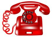 Stock Illustration of rotary dial telephone