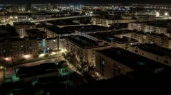 Night Urban Scape - Time Lapse Stock Footage