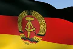 Flag of Germany DDR NTSC - stock footage