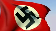 Flag of Germany Reich 1935-1945 HD Stock Footage