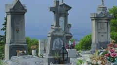 Catholic cemetery Stock Footage