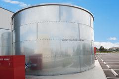 water tank - stock photo