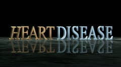 Falling Heart Disease letters Stock Footage