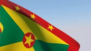 Stock Video Footage of Flag of Grenada HD