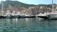 Stock Video Footage of Circular view of yachts embarked at the port
