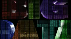 Big Data With Binary Codes - stock footage