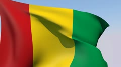 Flag of Guinea HD Stock Footage