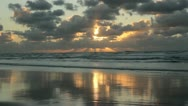 Sunset at the atlantic ocean in Portugal Stock Footage