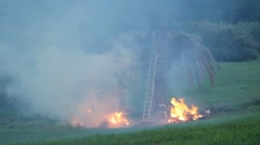 Fire in the countryside Stock Footage