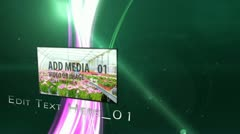 Organic media display Stock After Effects