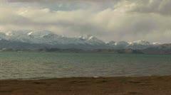 View on Karakul Lake - Tajikistan Stock Footage