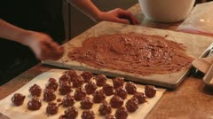 Rolling cherry Chocolate candy for Christmas holiday HD 4834 Stock Footage