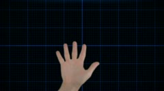 Stock After Effects of Hand Scan Media Selection