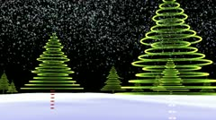 Cool Christmas Trees Stock Footage